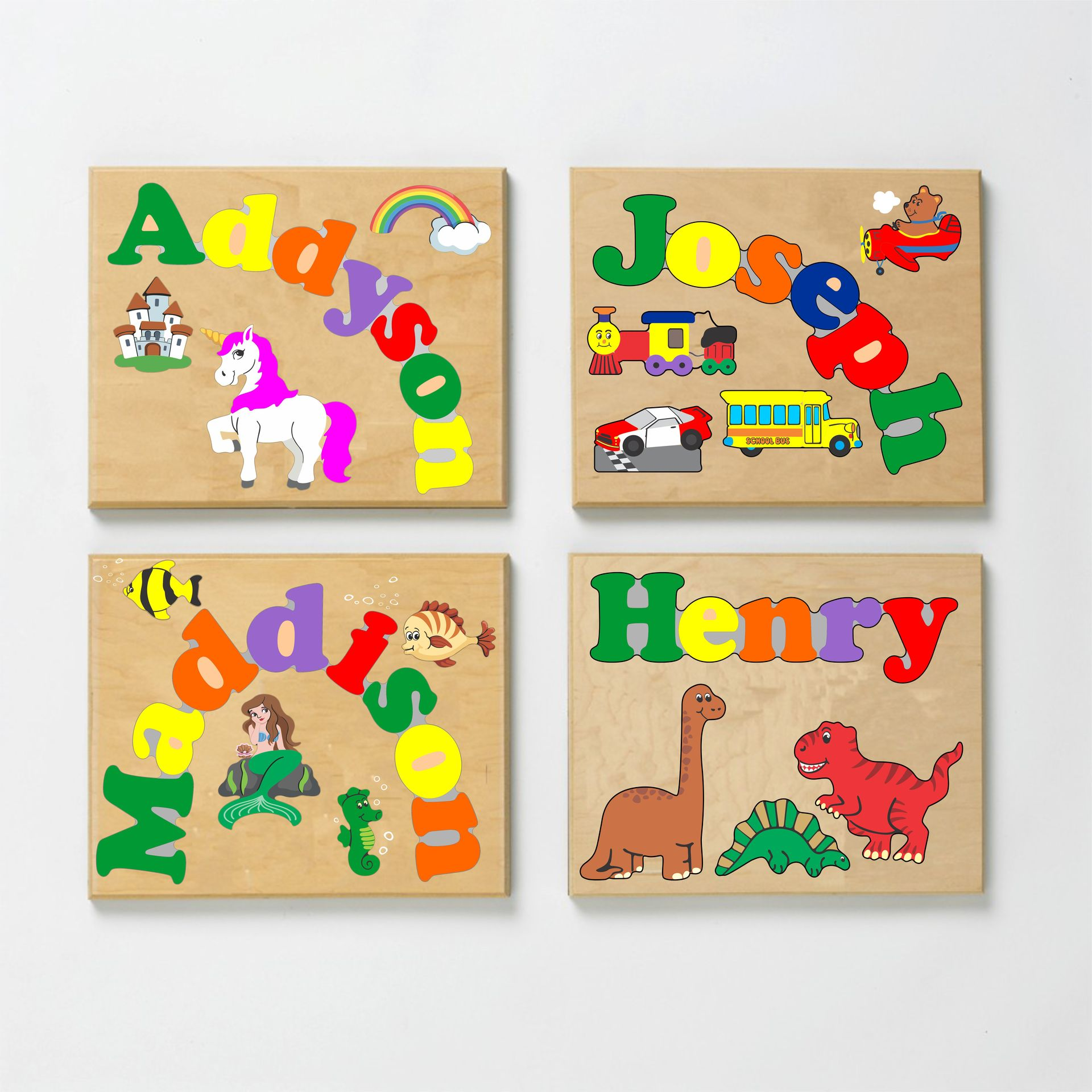 Custom Name Puzzles | Baby's First Birthday Gift