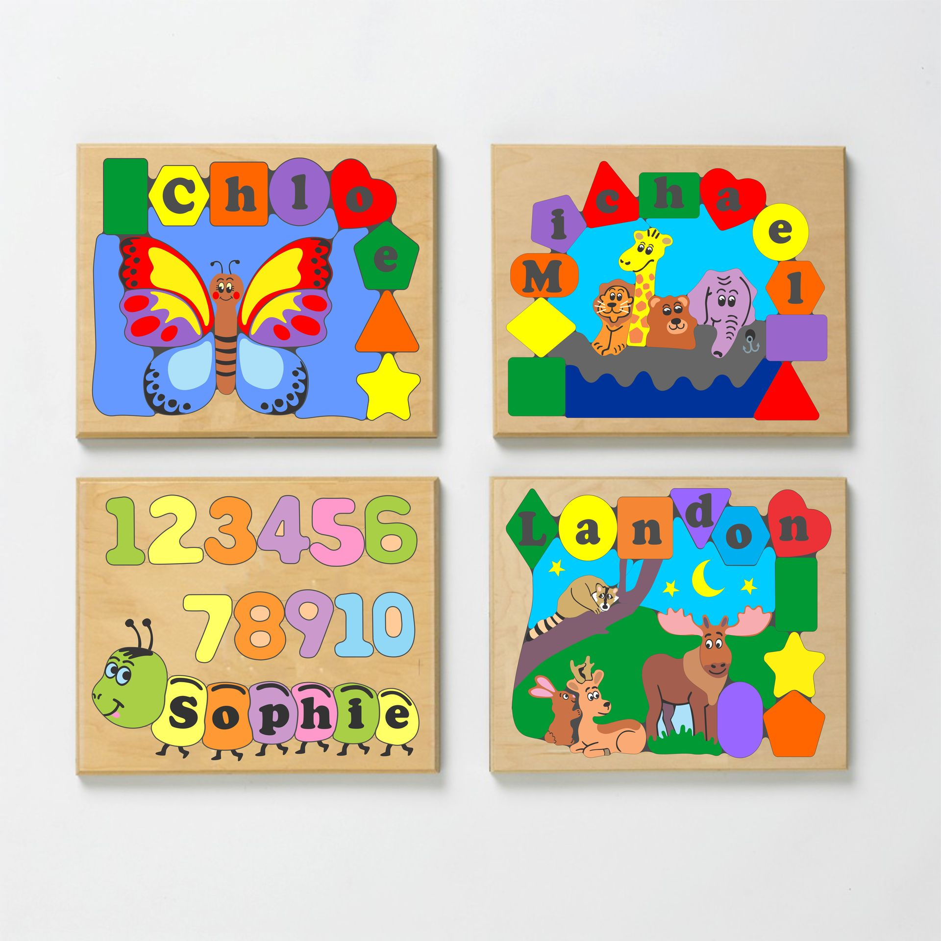 Animal Themed Name Custom Puzzle