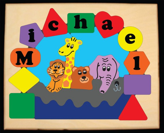 Personalized Name Noah S Ark Theme Puzzle Primary Free