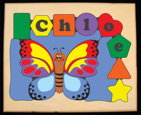 Personalized Name Butterfly Theme Puzzle Primary Free