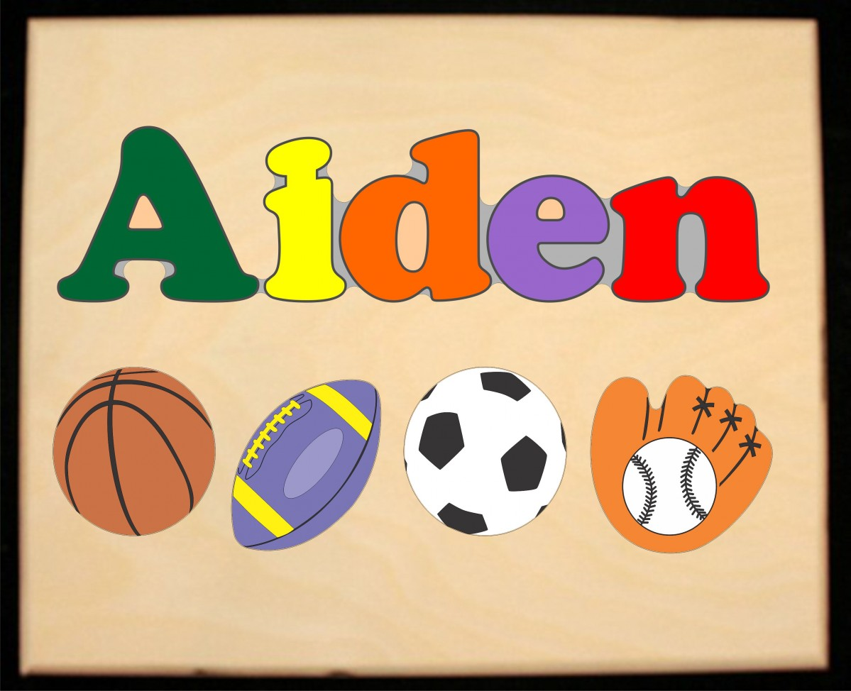 Custom Name Sports Theme Puzzle In Upper And Lower Case