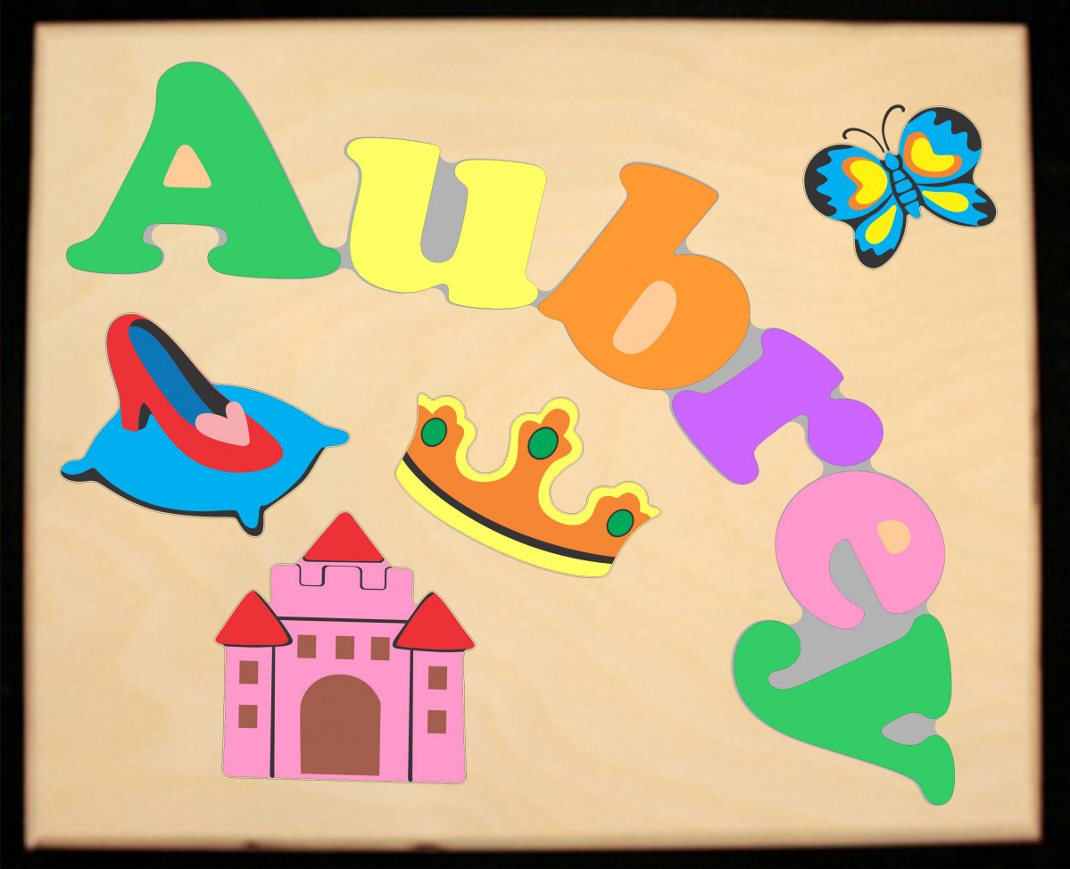 Custom Name S Princess Theme Puzzle In Upper And Lower