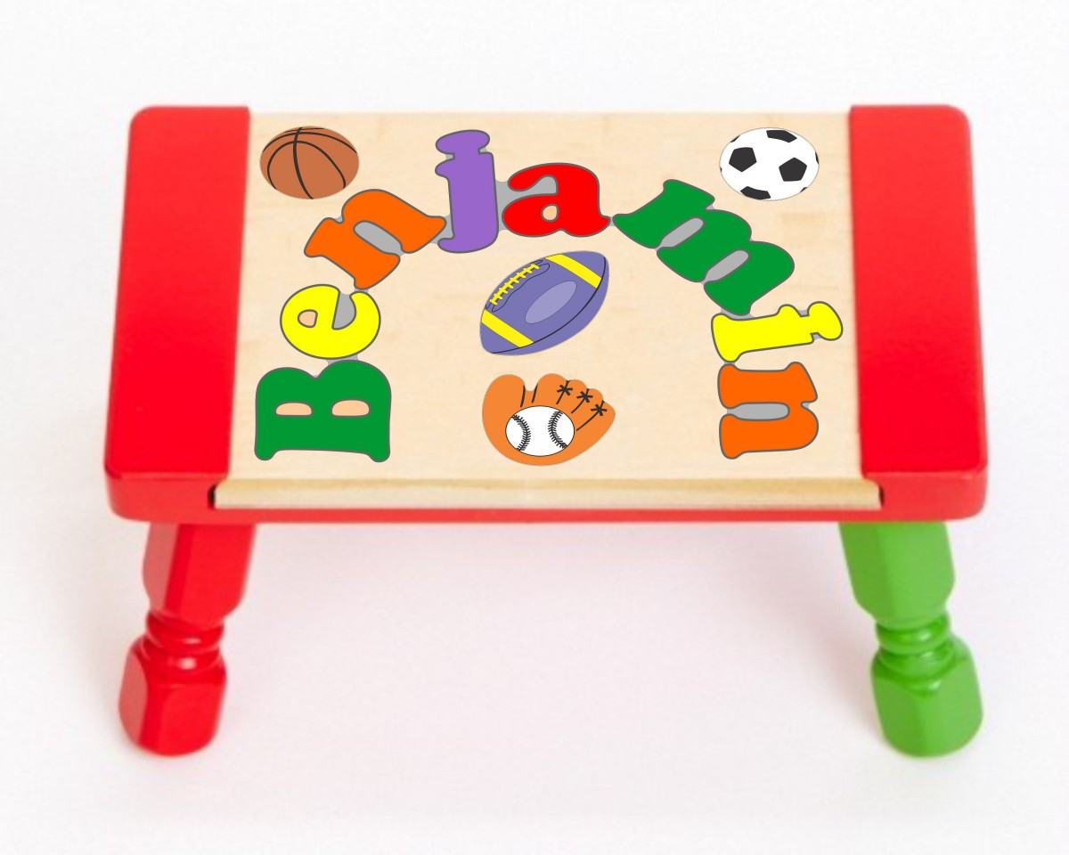 Name Puzzle Stool