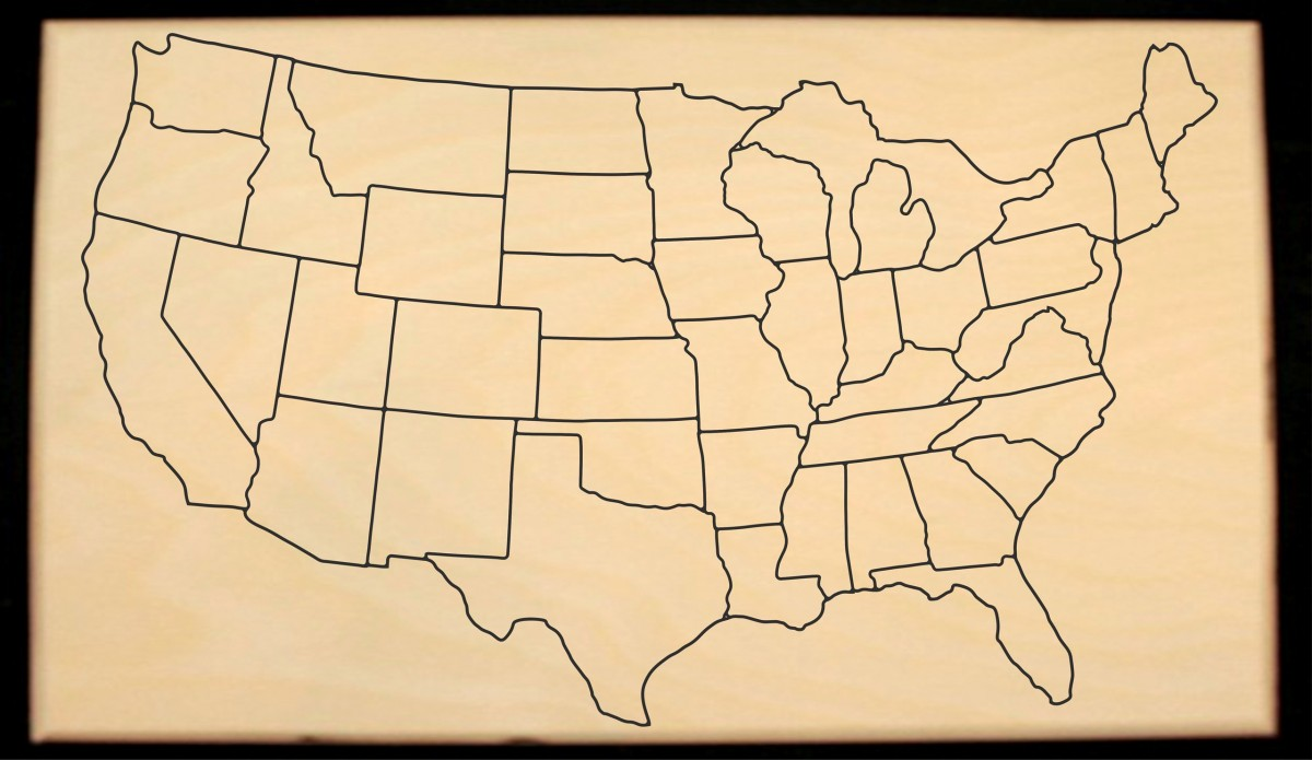 Us Map Puzzle With State Capitals