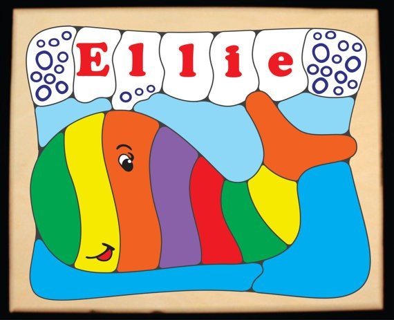 Personalized Name Whale Theme Puzzle - (FREE SHIPPING)