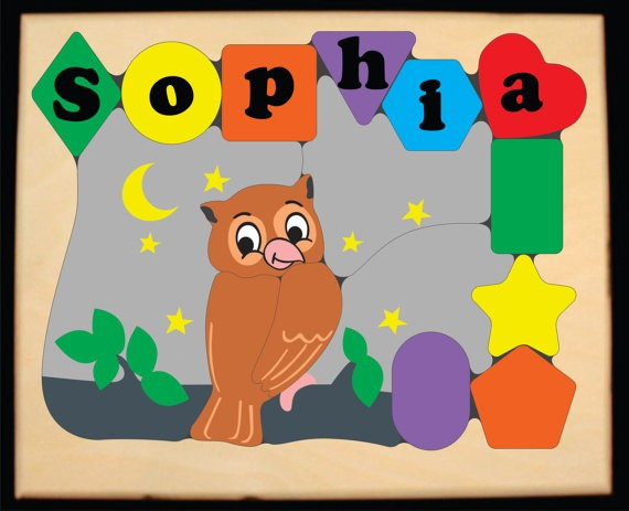 Personalized Name Owl Theme Puzzle - (FREE SHIPPING)