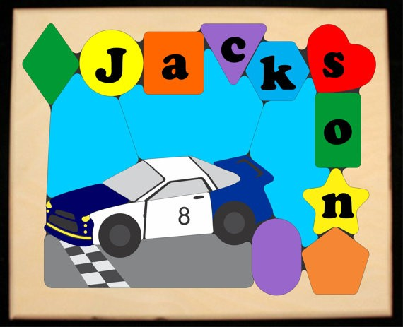 Personalized Name NAS Car Theme Puzzle (FREE SHIPPING)