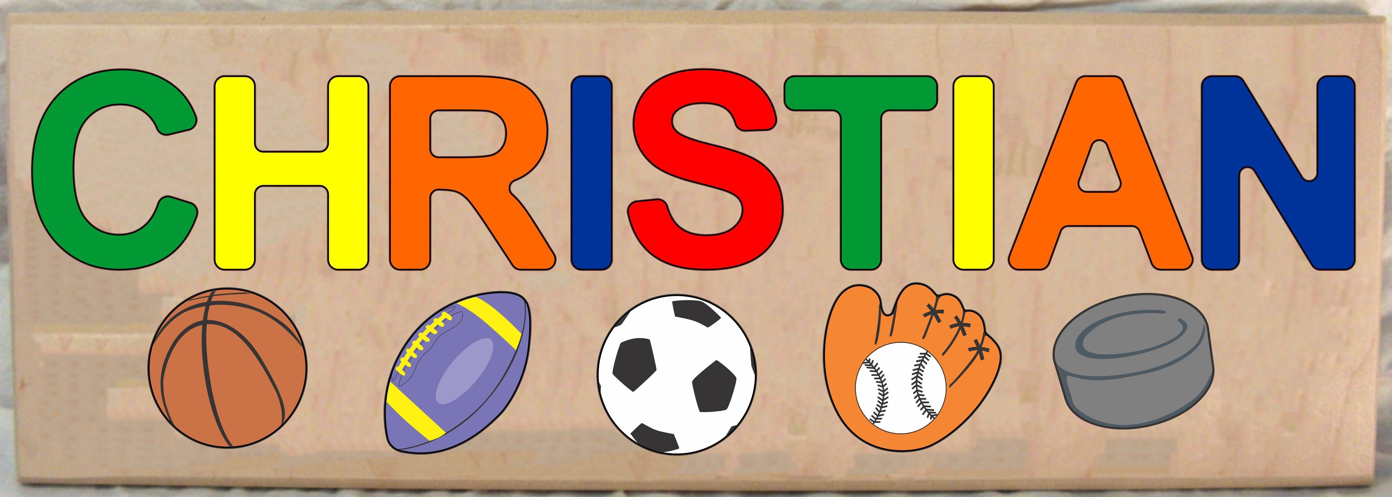 Long Custom Name Sports Theme Puzzle