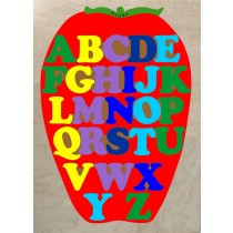 Personalized Name ABC Apple Alphabet Theme Puzzle - (FREE SHIPPING)