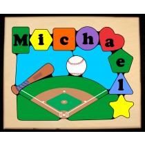 Personalized Name Baseball Theme Puzzle - (FREE SHIPPING)
