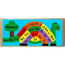 Personalized Name Dinosaur ABC Theme Puzzle - (FREE SHIPPING)