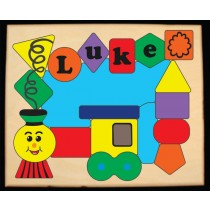 Personalized Name Train Shapes Theme Puzzle (FREE SHIPPING)