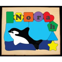 Personalized Name Orca Whale Theme Puzzle - (FREE SHIPPING)