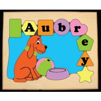 Personalized Name Dog Theme Puzzle-Pastel (FREE SHIPPING)