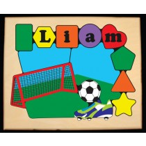 Personalized Name Soccer Theme Puzzle - (FREE SHIPPING)