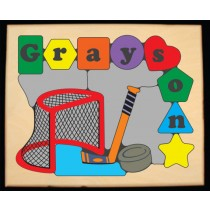 Personalized Name Ice Hockey Theme Puzzle - (FREE SHIPPING)