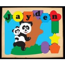 Personalized Name Panda Bears Theme Puzzle - (FREE SHIPPING)