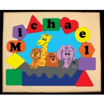 Personalized Name Noah's Ark Theme Puzzle - Primary  (FREE SHIPPING)