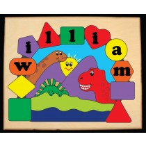 Personalized Name Three Dinosaurs Theme Puzzle (FREE SHIPPING)