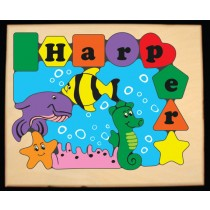 Personalized Name Under Water Fish World Theme Puzzle (FREE SHIPPING)
