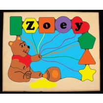 Personalized Name Honey Bear Theme Puzzle- Primary - (FREE SHIPPING)