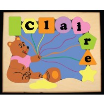 Personalized Name Honey Bear Theme Puzzle - Pastel - (FREE SHIPPING)