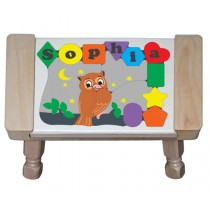 Personalized Name Owl Theme Puzzle Stool - (FREE SHIPPING)