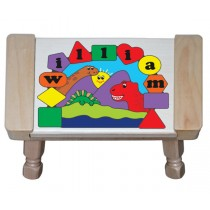 Personalized Name Three Dinosaurs Theme Puzzle Stool - (FREE SHIPPING)