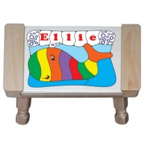 Personalized Name Whale Theme Puzzle Stool - (FREE SHIPPING)