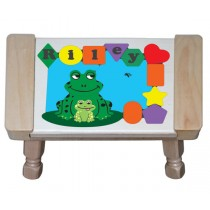 Personalized Name Frog Theme Puzzle Stool - (FREE SHIPPING)
