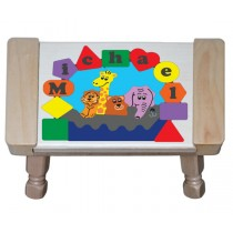 Personalized Name Noah's Ark Theme Puzzle Stool - Primary (FREE SHIPPING)