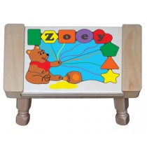 Personalized Name Honey Bear Theme Puzzle Stool - Primary (FREE SHIPPING)