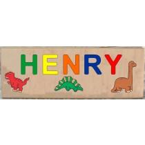 Long Custom Name Dinosaur Theme Puzzle