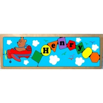 Personalized Name Long Plane Theme Puzzle - (FREE SHIPPING)