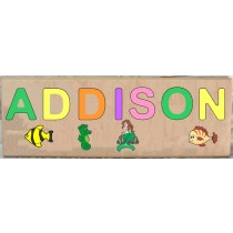 LONG CUSTOM NAME MERMAID THEME PUZZLE - PRIMARY OR PASTEL, (FREE SHIPPING)