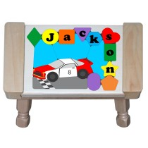 Personalized Name NAS Car Theme Puzzle Stool (FREE SHIPPING)