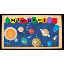 NEW ** 2021 ** CUSTOM NAME SOLAR SYSTEM THEME PUZZLE - (FREE SHIPPING)