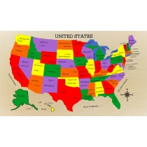USA Map Puzzle with State Capitals - (FREE SHIPPING)