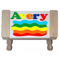 Custom Name Rainbow Puzzle Stool - (FREE SHIPPING)