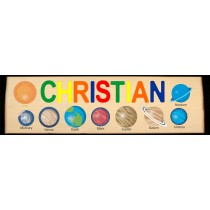 NEW ** 2021 ** CUSTOM NAME LONG BOARD SOLAR SYSTEM THEME PUZZLE - (FREE SHIPPING)