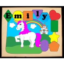 Personalized Name Unicorn Theme Puzzle - Primary (FREE SHIPPING)