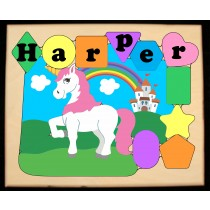Personalized Name Unicorn Theme Puzzle - Pastel (FREE SHIPPING)