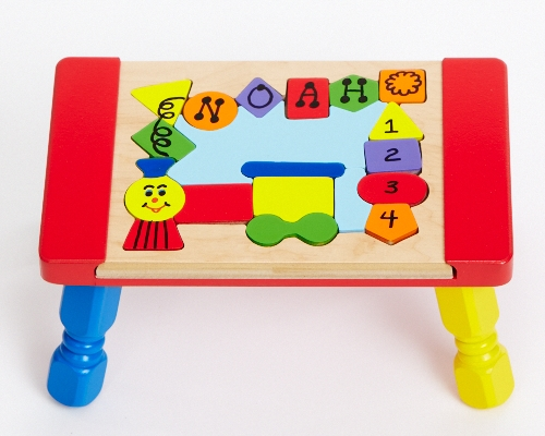 Personalized Custom Name Puzzles Stools Educational